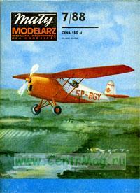 Модель-копия из бумаги самолета RWD -10. №7/88