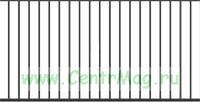 Сварной забор Вариант 1 (секция 2Х1,8 м.)