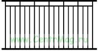 Сварной забор Вариант 6 (секция 2Х1,8 м.)