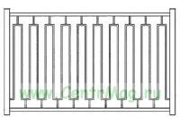 Сварной забор Вариант 7 (секция 2Х1,8 м.)