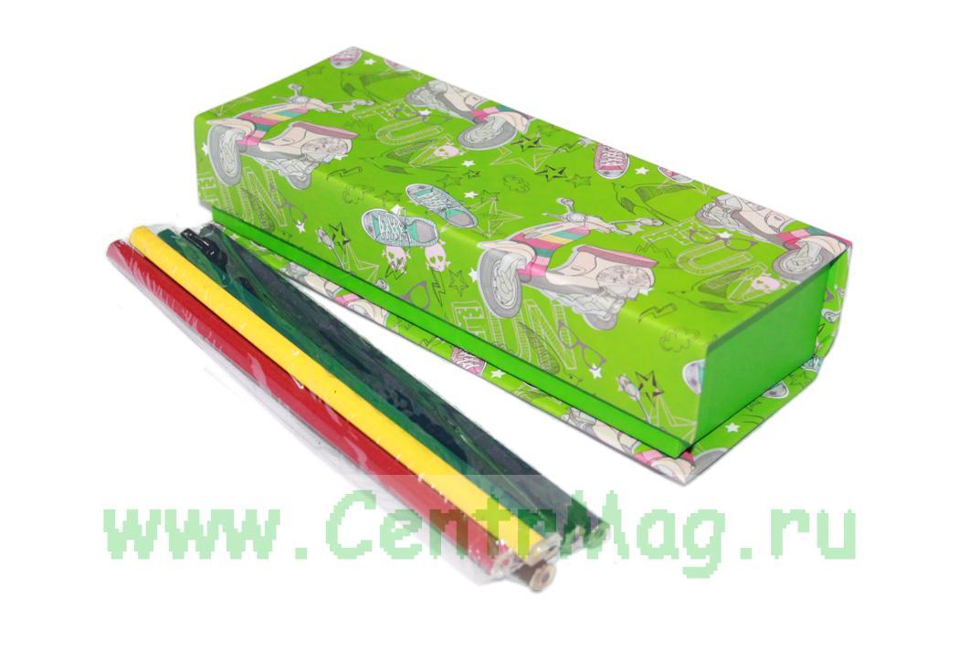 Пенал на магните с цветными карандашами