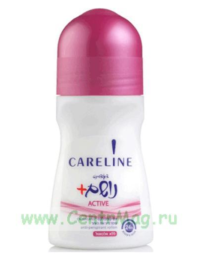 Careline Шариковый дезодорант Active (красный), 75 мл