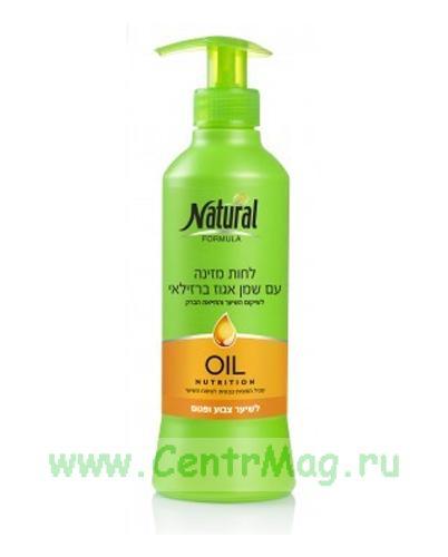 Natural Formula Питательный увлажняющий крем с миндалем, для окрашенных волос, 400 мл