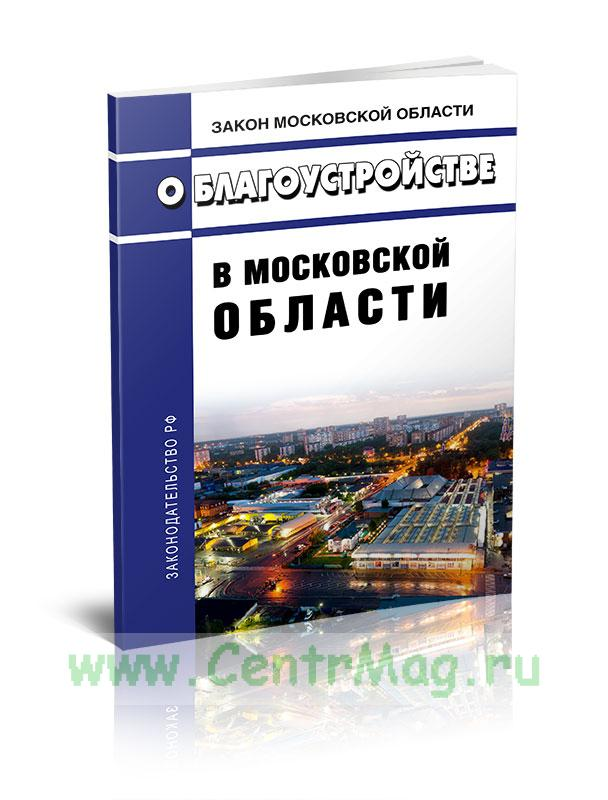 О благоустройстве в Московской области 2019 год. Последняя редакция
