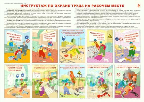 Плакат «Инструктаж по охране труда на рабочем месте»