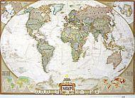 Мир. National Geographic. Карта