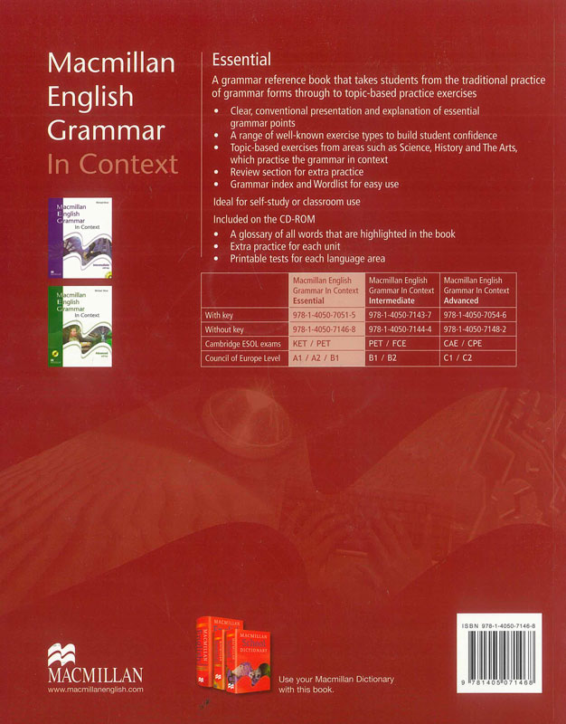 Macmillan English Grammar In Context. Essential + CD
