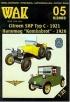 Модель-копия из бумаги автомобилей Citroen 5HP Typ C - 1921 Hanomag