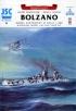 Модель-копия из бумаги корабля Bolzano