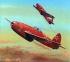 Модель-копия из бумаги самолета ЯК-15