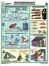 """Комплект плакатов """"Техника безопасности при сварочных работах"""". 5 листов, 61х46 см. Обжатый металлическими планками (верхняя с петелькой + нижняя, металлик)"""