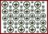 """Знак """"Заземлено"""" (комплект из 48 знаков диаметром: 50, 45, 40, 25, 20, 16 мм)"""