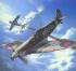 Модель-копия из бумаги самолета Spitfire Vb