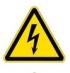 Опасность поражения электрическим током. Знак W08 (Молния)