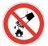 Запрещается тушить водой. Знак
