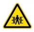 Внимание! Опасность зажима. Знак