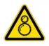 Осторожно! Возможно затягивание между вращающимися элементами. Знак W29