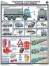 """Комплект плакатов """"Перевозка опасных грузов автотранспортом"""". 5 листов 61х46 см. Обжатый металлическими планками (верхняя с петелькой + нижняя, металлик)"""