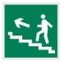 Направление к эвакуационному выходу по лестнице вверх. Знак