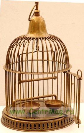 Клетка для птиц декоративная с овальным куполом