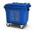 """Комплект наклеек на мусорный бак """"Вторсырье"""" из 4 штук, для бака синего цвета"""