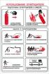 Использование огнетушителя. Табличка