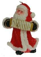 Свеча новогодняя Дед мороз с гармонью 7*6*11см