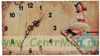 Часы настольные Пин-ап 13*23см
