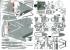 """Модель-копия из бумаги Истребтитель-бомбардировщик Su-7 B """"Fitter"""".  OKB YG model №2 (масштаб1:33)"""