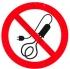 Запрещается пользоваться электронагревательными приборами. Знак