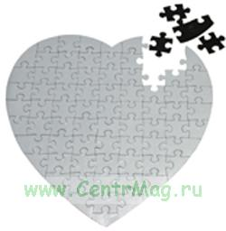 Заготовка пазл для сублимации сердце Магнитный