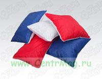 Подушка для субл. печати красная, нап. холлофайбер, чехол на молнии креп-сатин/дюспо, 40 x 40 см